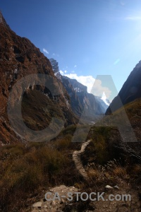 Asia annapurna sanctuary trek south asia sky valley.