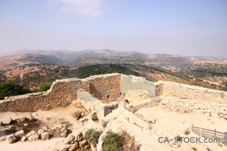 Asia archaeological castle jordan ajloun.