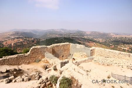 Asia archaeological castle jordan ajloun.