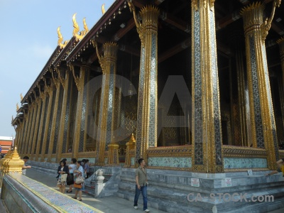 Asia bangkok grand palace sky wat phra kaeo.