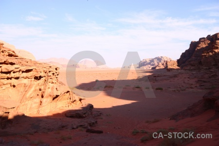 Asia bedouin desert mountain sky.
