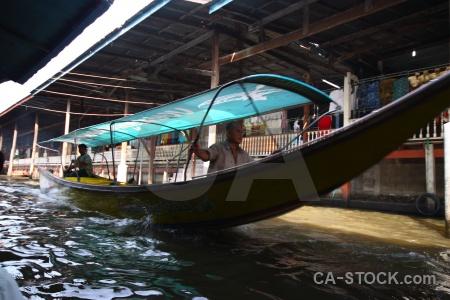 Asia boat damnoen saduak southeast asia vehicle.