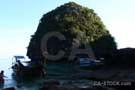 Asia boat southeast asia ko phi leh island.
