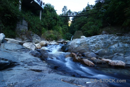 Asia bridge annapurna sanctuary trek himalayan tikhedhunga.