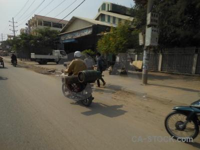 Asia building sky motorbike southeast.
