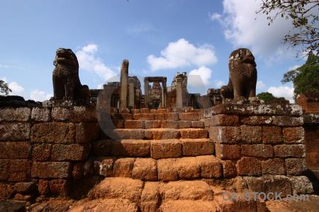 Asia cambodia siem reap eastern mebon lichen.