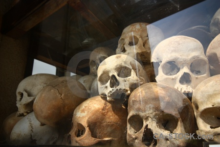 Asia cambodia skull genocide killing fields.