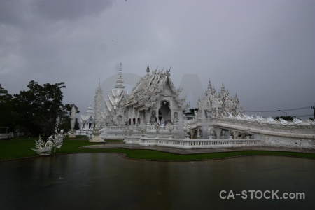 Asia chiang rai white temple cloud pond.