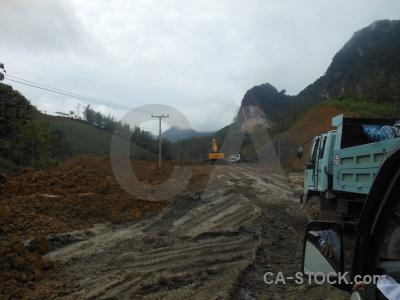 Asia digger cloud luang prabang mud.
