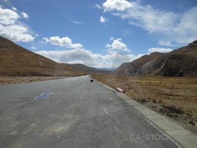 Asia east mountain altitude road.