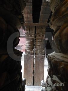 Asia hanuman dhoka buddhism pillar nepal.