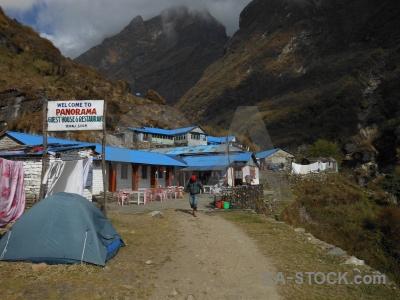 Asia himalayan path sign sky.