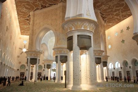 Asia inside abu dhabi building sheikh zayed.