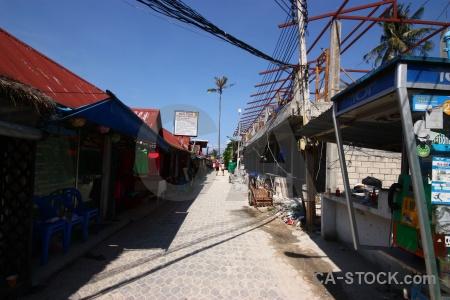 Asia island phi village thailand.