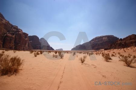 Asia jordan wadi rum sky sand.