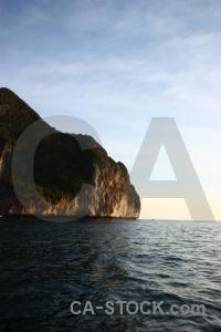 Asia ko phi leh cliff limestone rock.