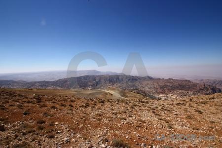 Asia landscape desert sky mountain.