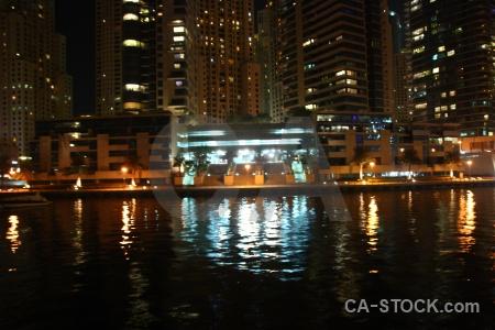 Asia light canal reflection dubai.