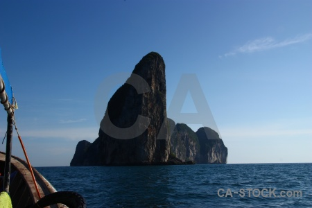 Asia limestone sea southeast asia rock.