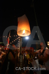 Asia loi krathong lantern bangkok festival.