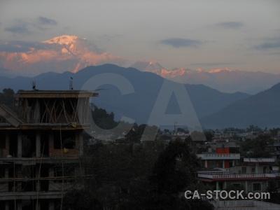 Asia mountain snowcap nepal pokhara.