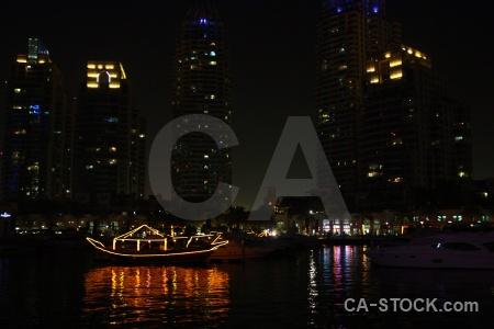Asia night western asia dubai marina.