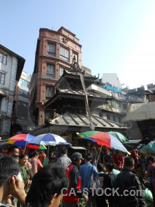 Asia person building kathmandu market.