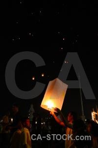 Asia person light festival flame.