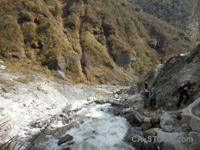 Asia river rock valley himalayan.