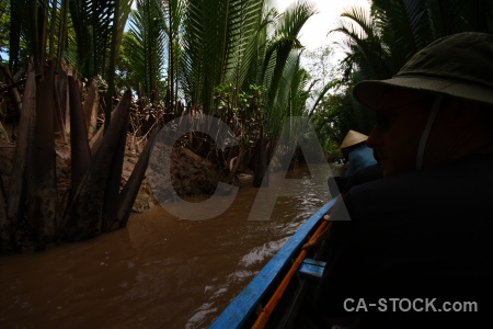 Asia river thoi son island hat boat.