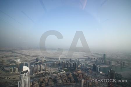 Asia road western aerial burj khalifa.