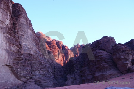 Asia rock cliff mountain wadi rum.