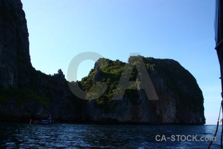 Asia rock phi island sea tropical.