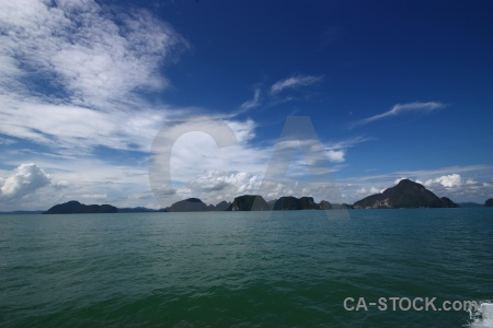 Asia sea sky phang nga bay southeast asia.