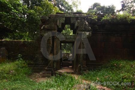 Asia siem reap angkor thom block buddhist.