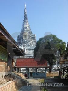 Asia sky buddhism chedi phukhao thong stupa.