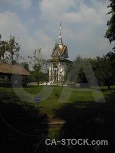 Asia sky genocide phnom penh grass.