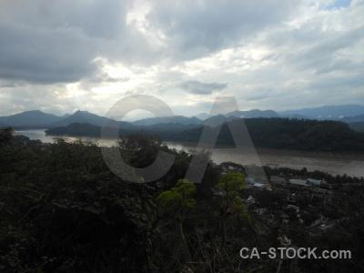 Asia sky water cloud river.