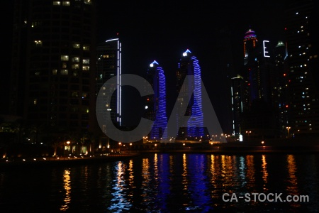 Asia skyscraper water dubai middle east.