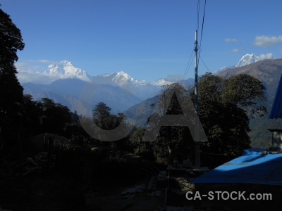 Asia south annapurna sanctuary trek mountain tukche peak.