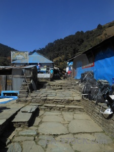 Asia south sky nepal annapurna sanctuary trek.