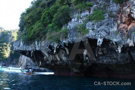 Asia southeast asia limestone island water.