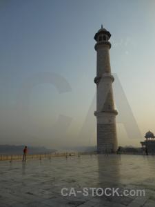 Asia taj mahal south minaret agra.