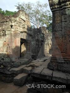 Asia temple khmer ruin buddhist.
