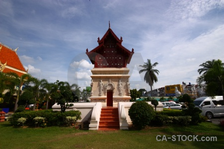 Asia tree temple sky wat phra singh.