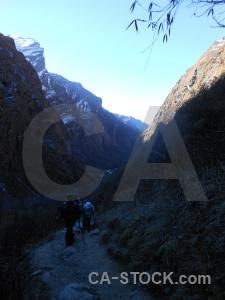 Asia trek nepal valley mountain.