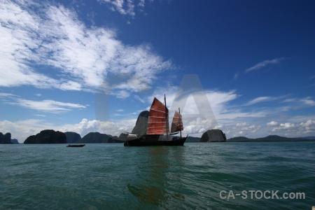 Asia tropical limestone sail southeast asia.