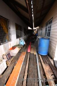 Asia tropical village plank koh panyee.