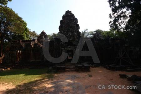 Asia unesco buddhist block ta saom temple.