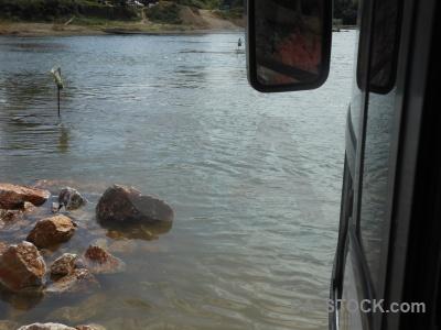 Asia vehicle water bus laos.